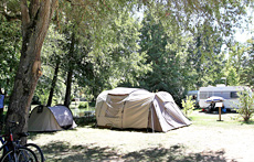 emplacement tente camping agen